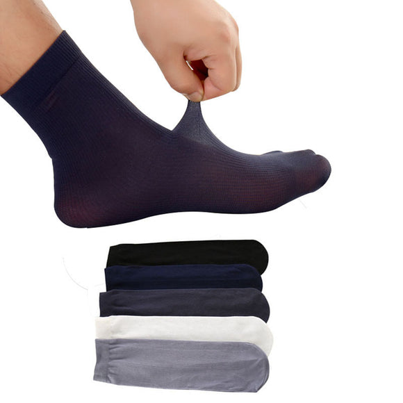 10pairs Men Short Socks Pure Color Ultra-thin Elastic Silky Man Socks Summer Autumn High Quality Casual Business Male Sock Meias  MartLion.com