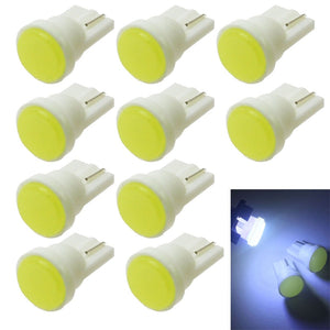 10pcs Car Interior LED T10 COB/8SMD W5W Wedge Door Instrument Side Bulb Lamp Car Light Blue/Green/red/Yellow/Pink Source 12V  MartLion