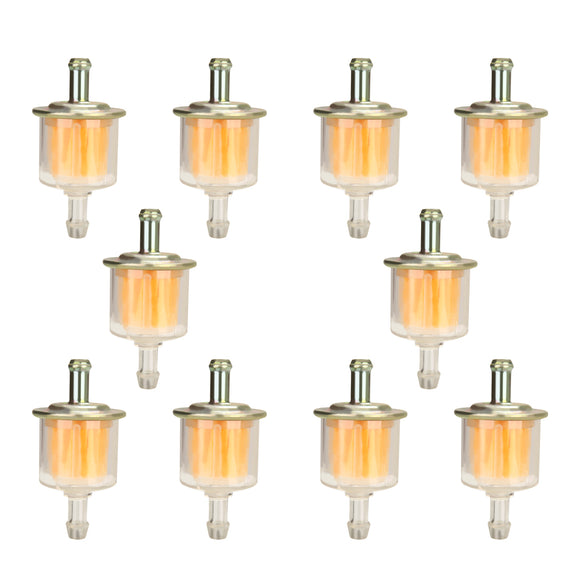 10pcs Set Universal Motorcycle Petrol Gas Oil Fuel Line Filter 5/16