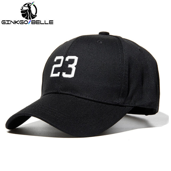 11 Colors Men Baseball Cap With Number 23 Unisex Sport Hats Cotton Embroidery Personality Fans Cap Fashion Accessories  MartLion.com