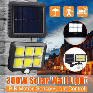 120 LED Solar Lights Outdoors Solar Garden Lamps PIR Motion Sensor Split Solar Wall Light Spotlights Waterproof Emergency Lights  MartLion