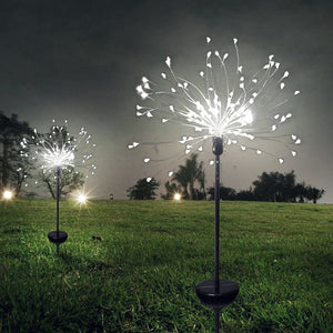150 LED Solar Fireworks Light Dandelion Lawn Lamp / Grassland Fireworks Lights / Outdoor Waterproof Holiday Solar Garden Light  MartLion