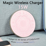15W Magic Array Wireless Charging Pad for iPhone 12 11 X 8 Fast Magic Circle Wireless Charger for Samsung Galaxy Note S20 Xiaomi  MartLion