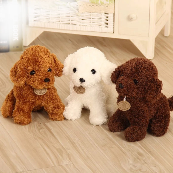 18/25 cm Simulation Teddy Dog Poodle Plush Toys Cute Animal Suffed Doll  for Christmas Gift  MartLion
