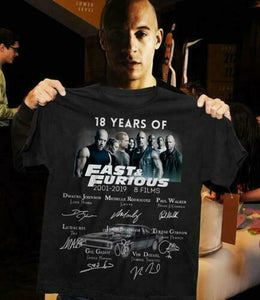 18 Years of Fast Furious T-Shirt 2001-2019 Signature Shirt  MartLion