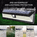 180 LED COB 3 Modes Solar Lamp Outdoor PIR Motion Sensor 4000LM Solar Wall Light Waterproof Emergency Garden Yard Lamps Dropship  MartLion