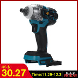 18V 520Nm Electric Rechargeable Brushless Impact Wrench Cordless 1/2 Socket Wrench Power Tool For Makita Battery DTW285Z  MartLion.com
