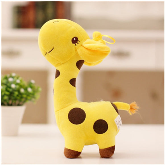18cm Unisex Cute Gift Plush Giraffe Soft Toy Animal Dear Doll Baby Kid Child Christmas Birthday Happy Colorful Gifts5 colors  MartLion