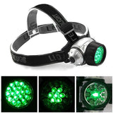 19 LED High Intensity Green Head Light Hydroponics Horticulture Grow Room Headlamp  MartLion.com