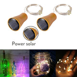 1M 10LED Solar Powered Wine Bottle Cork Shaped LED Copper Wire String Outdoor Light Garland Lights Festival Outdoor Fairy Light  MartLion