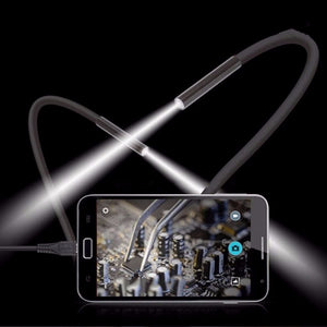 1M 5.5m/7mm Lens USB Endoscope Camera Waterproof Flexible Wire Snake Tube Inspection Borescope For OTG Compatible Android Phones  MartLion.com