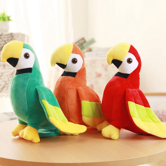 1PC 20/25cm Cute Plush Rio Macaw Parrot Plush Toy Stuffed Doll Bird Baby Kids Children Birthday Gift Home Decor  MartLion