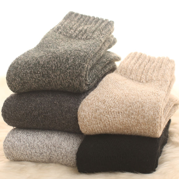 1Pair Merino wool Fall and Winter Plush Warm men Socks Thicker Cotton Wool Loop dress Socks Men Towels Plush Slacky  Winter - Mart Lion  Best shopping website