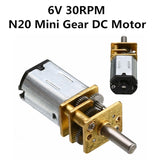 1Pc 30RPM N20 Micro-Speed Gear Motor DC 6V Reduction Gear Motors with Metal Gearbox Wheel  MartLion