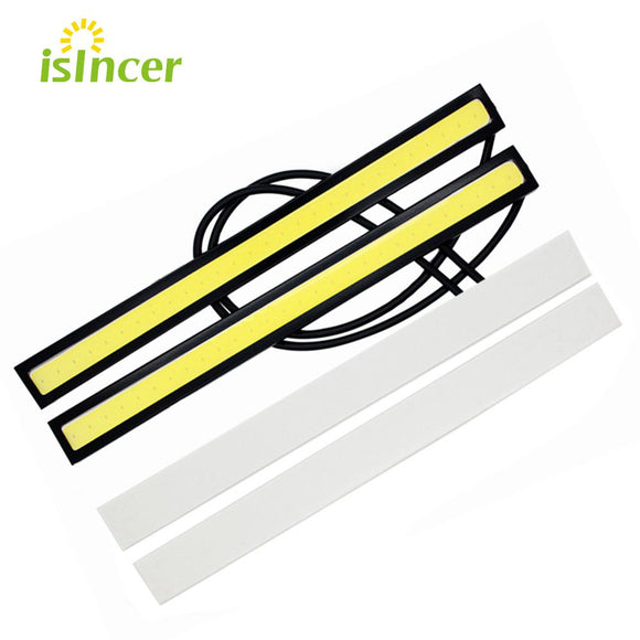 1Pcs 17CM LED COB DRL Daytime Running Lights Waterproof External Car Styling Car Parking Fog Bar Turn Signal Lamps Accessories  MartLion