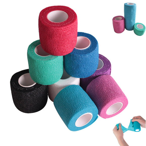 1Pcs Sport Waterproof Medical Therapy Self Adhesive Bandage Muscle Tape Finger Joints Wrap First Aid Kit Pet Elastic Bandage  MartLion.com