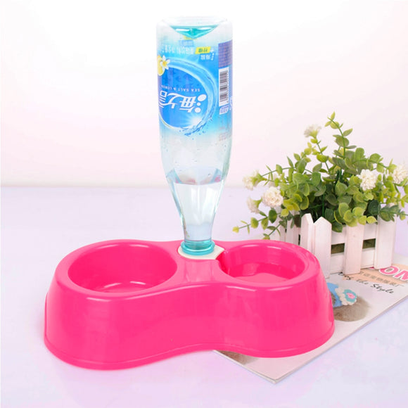 1pcs Dual Port Dog Cat Pets Automatic Water Dispenser Feeder Bowl Utensils Pet Drinking Water Feeder Bowl DropShipping - Mart Lion  Best shopping website