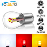 1pcs P21W 1156 BA15S BAU15S BA15D S35 6SMD Chips 1157 BAY15D Car Brake Lights Auto Reverse Bulb Parking Lamp 12V Super Bright  MartLion