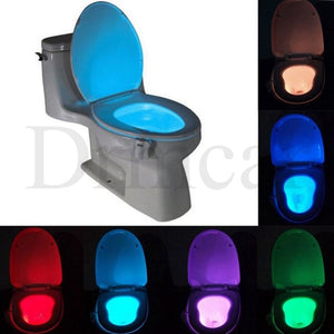1pcs Toilet Seat Night Light Smart PIR Motion Sensor  8 Colors Waterproof Backlight For Toilet Bowl LED Luminaria Lamp WC Toilet  MartLion