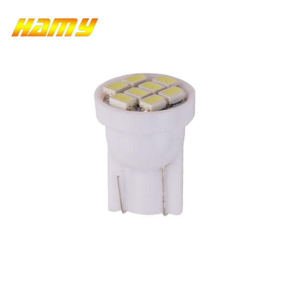 1x Car T10 W5W LED Signal Bulb Interior Dome Reading Light Super Bright Auto Luggage Trunk License Plate Lamp White 8SMD  MartLion