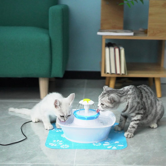 2.3L Automatic Pet Cat Water Fountain LED Electric USB Dog Pet Mute Drinker Feeder Bowl Pet Fountain Drinking Water Dispenser  MartLion.com