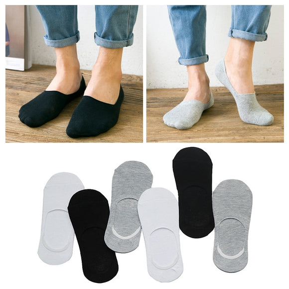 2/3Pairs Summer Men Socks Breathable Casual Boat Socks Male Invisible Socks Slippers Low Cut Socks No Show Non-slip Calcetines - Mart Lion  Best shopping website