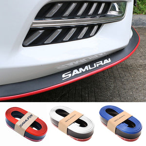 2.5M Car Bumper Lip Carbon Fiber Rubber Car Protector Front Lip Mouldings Splitter Chin Body Kits Spoiler Auto Bumper Exterior  MartLion