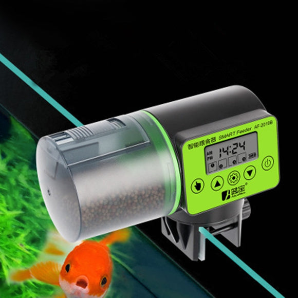 2 in 1 Manual and Automatic Fish Feeder Aquarium Timer Feeder Digital pet Fish Tank Electrical Food Feeding Fish Feeder  MartLion.com