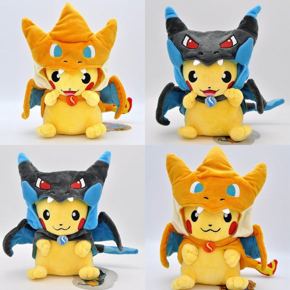 20-23CM Mega Charizard X&Y Cosplay Pikachu Peluche Stuffed Animals Dolls Plush Toys Kids Christmas Gifts Free Shipping  MartLion