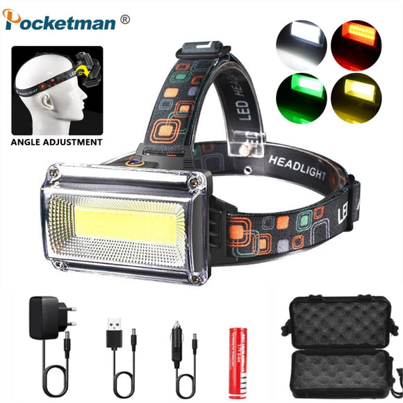 20000LM Powerful COB LED Headlight Rechargeable Headlamp Torch Flashlight 18650 Battery Waterproof Hunting Fishing Light Outdoor  MartLion