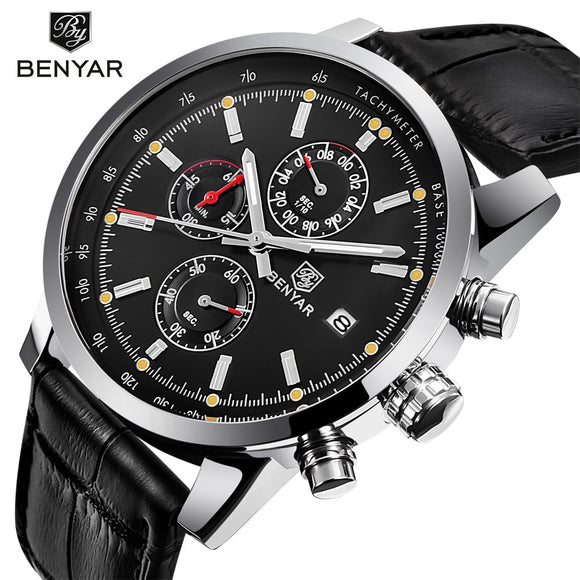 2018 BENYAR Fashion Chronograph Sport Mens Watches Top Brand Luxury Waterproof Military Quartz Watch Clock Relogio Masculino  MartLion.com