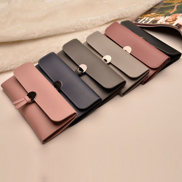 2018 Fashion Long Women Wallets High Quality PU Leather Women's Purse and Wallet Design Lady Party Clutch Female Card Holder  MartLion