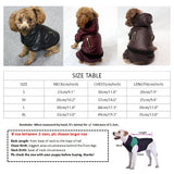 2018 Leather Pet Clothes for Dogs for Small Dogs Winter Dog Coat Chihuahua Jacket Warm Four Legs Hooded Dog Costume Pet Clothing  MartLion