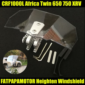 2018 NEW Hot Sale Motorcycle Windshield Increased FOR HONDA CRF1000L Africa Twin 650 750 XRV  MartLion