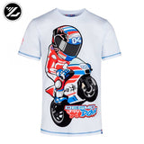2018 moto gp track quick-drying motorcycle fashion city racing t-shirt for ducati 04 Rossi 46 cartoon riding casual t-shirt  MartLion