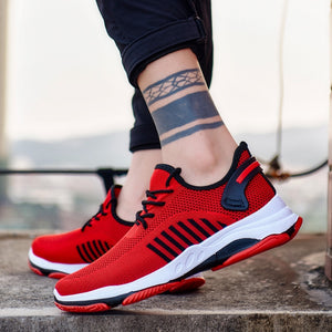 2019 Men Vulcanize Shoes Casual Comfortable Sneakers Wear-resisting Non-slip Male Mesh Tenis Masculino Plus Size 39-45  MartLion