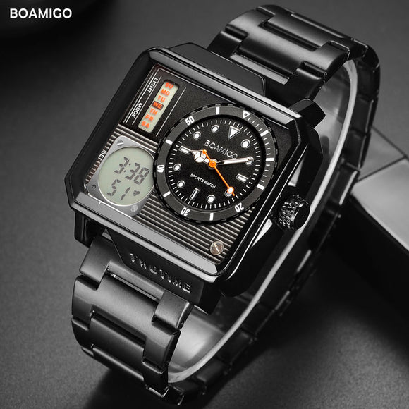 2019 New Fashion BOAMIGO Top Brand Luxury Men's Watch 30m Waterproof Auto Date Clock Male Watches Men Digital Casual WristWatch  MartLion