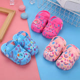 2019 New Fashion Baby Girls Garden Shoes Cartoon Rainbow Cute Sandal Baby Boy Shoes Summer Slippers Kids Sandals Childen Shoes  MartLion