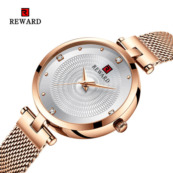 2019 REWARD Watch Women Luxury Fashion Casual Waterproof Quartz Watches Sport Clock Ladies Elegant Wrist watch Girl Montre Femme  MartLion.com
