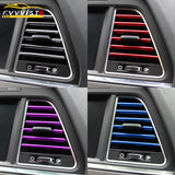 2019 VVVIST Car Styling Mouldings 20cm Interior Air Vent Grille Switch Rim Trim Outlet Scratch Guard Protector Car Styling Strip  MartLion