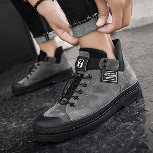 2019 Winter Men's Boots Warm PU Leather Male Waterproof Shoes Chaussure Man Casual Shoes For Men Boots Footwear Male Sneakers  MartLion