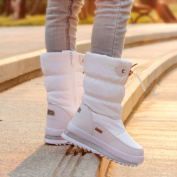 2019 Winter Platform girls Boots Children Rubber anti-slip Snow Boots Shoes for girl big Kids Waterproof Warm Winter Shoes Botas  MartLion