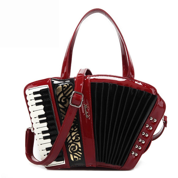 2019 Women's vintage accordion bag Musician's handbag party concert use novelty Trong music purse Preppy Style Crossbody Bags Me