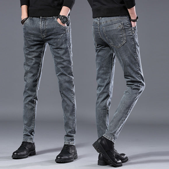 2019 autumn New men Jeans Black Classic Fashion Designer Denim Skinny Jeans men's casual High Quality Slim Fit Trousers - Mart Lion  Best shopping website