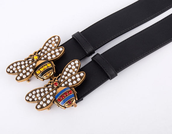 2019 brand Designer Belt Men High Quality leather belt for men Fashion bee Buckle brand Belt for Women Man Belt