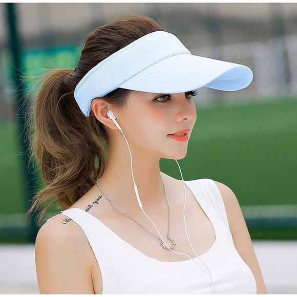 2019Hot Selling New Tennis Caps Stylish Women Men Unisex Beach Sports Sun Visor Hat Golf Caps Summer Travel Sun Hat Outdoor On - Mart Lion  Best shopping website