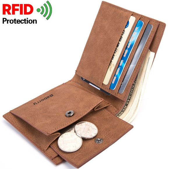2020 Fashion Rfid Men Wallets Mens Wallet with Coin Bag Zipper Small Mini Wallet Purses New Design Dollar Wallet Slim Money Bag  MartLion