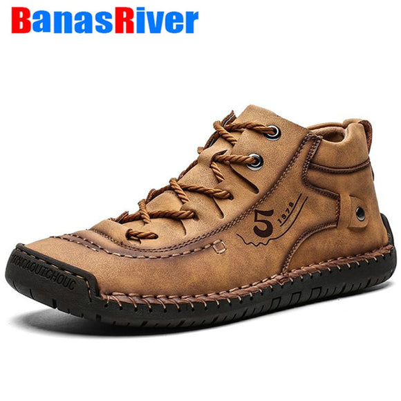 2020 Leather Men Casual Shoes Comfortable Fashion Walking Big Size Brown Black Soft Flats Outdoor Fashion High Quality Footwear  MartLion