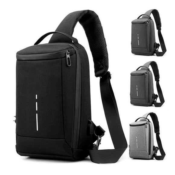 2020 Men's Anti-theft Waterproof Multifunction Oxford Crossbody Bag Shoulder Bags Short Trip Messenger Chest Bag Pack For Male