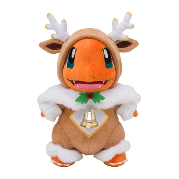 2020 New Cartoon 25cm Merry Christmas Sawsbuck Poncho Charmander Stuffed Plush Toys Anime Plush Toys Dolls Gifts For Children  MartLion